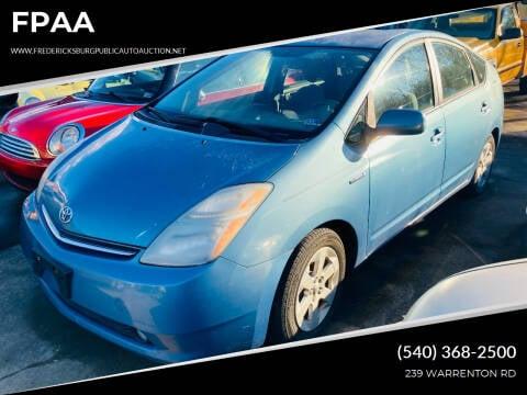2007 Toyota Prius for sale at FPAA in Fredericksburg VA