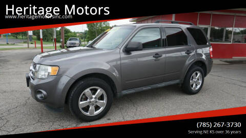 2011 Ford Escape for sale at Heritage Motors in Topeka KS