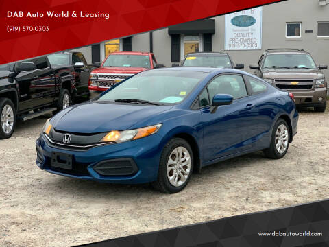 2015 Honda Civic for sale at DAB Auto World & Leasing in Wake Forest NC