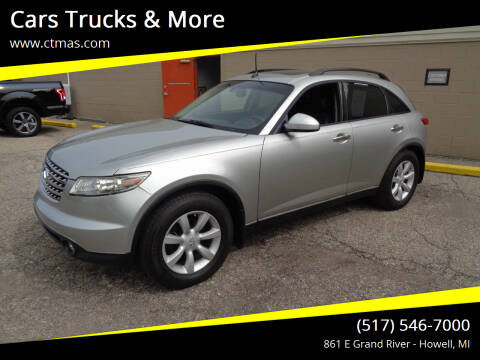 2005 Infiniti FX35 for sale at Cars Trucks & More in Howell MI