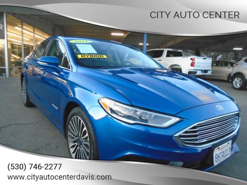 2018 Ford Fusion Hybrid for sale at City Auto Center in Davis CA