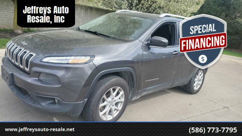 2015 Jeep Cherokee for sale at Jeffreys Auto Resale, Inc in Clinton Township MI