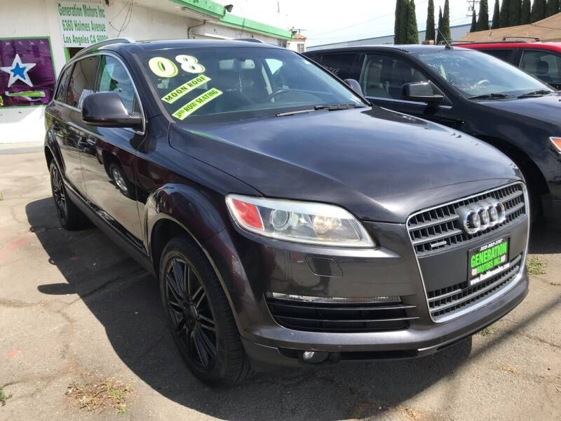 2008 Audi Q7 for sale at CAR GENERATION CENTER, INC. in Los Angeles CA