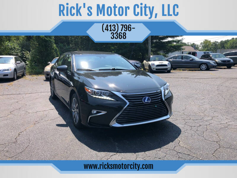 2017 Lexus ES 300h for sale at Rick's Motor City, LLC in Springfield MA