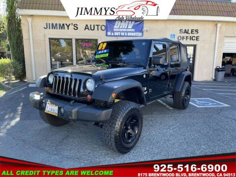2009 Jeep Wrangler Unlimited for sale at JIMMY'S AUTO WHOLESALE in Brentwood CA