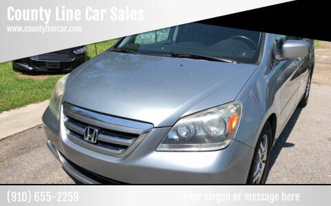 2007 Honda Odyssey for sale at County Line Car Sales Inc. in Delco NC