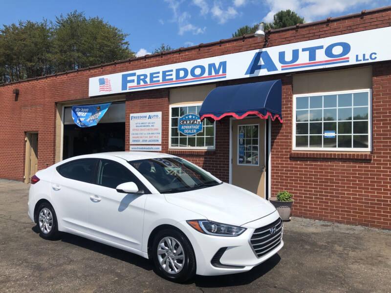 2018 Hyundai Elantra for sale at FREEDOM AUTO LLC in Wilkesboro NC