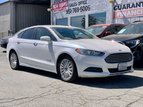 2016 Ford Fusion Hybrid for sale at Auto Source in Banning CA