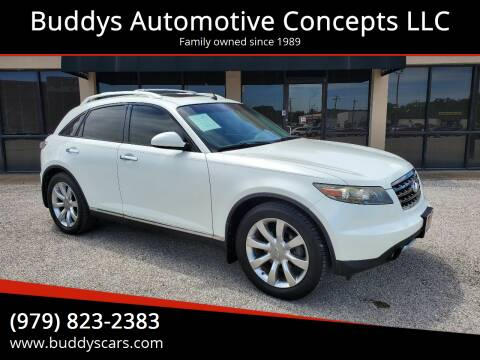 2008 Infiniti FX35 for sale at Buddys Automotive Concepts LLC in Bryan TX