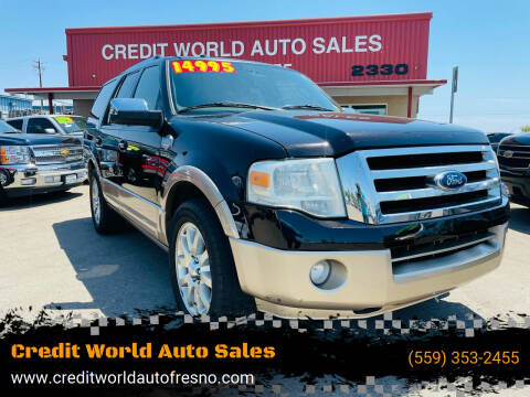 2013 Ford Expedition for sale at Credit World Auto Sales in Fresno CA