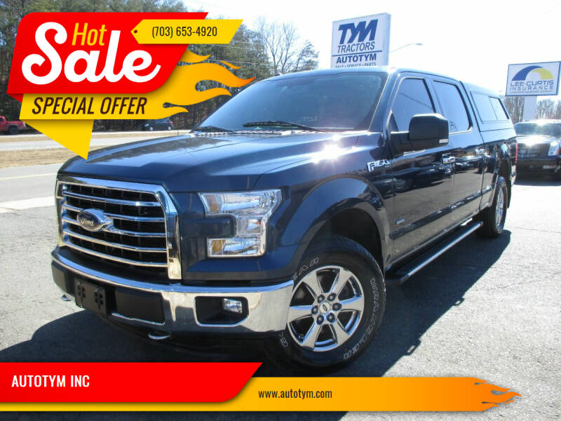 2016 Ford F-150 for sale at AUTOTYM INC in Fredericksburg VA