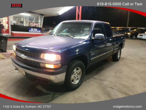 2000 Chevrolet Silverado 1500 for sale at CRAIGE MOTOR CO in Durham NC