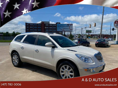 2012 Buick Enclave for sale at A & D Auto Sales in Joplin MO