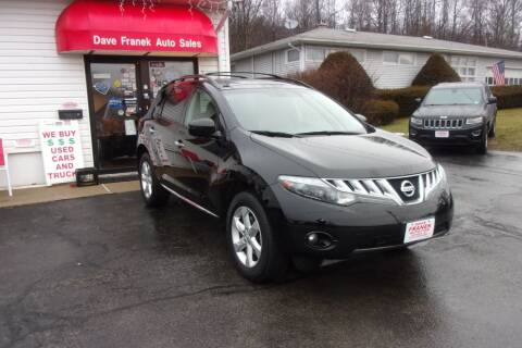 2010 Nissan Murano for sale at Dave Franek Automotive in Wantage NJ