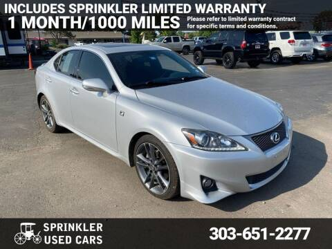 2013 Lexus IS 250 for sale at Sprinkler Used Cars in Longmont CO