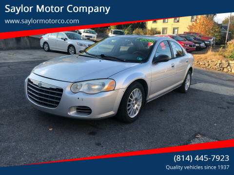 2005 Chrysler Sebring for sale at Saylor Motor Company in Somerset PA