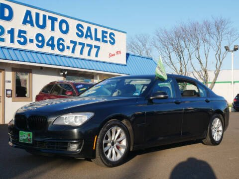 2013 BMW 7 Series for sale at B & D Auto Sales Inc. in Fairless Hills PA
