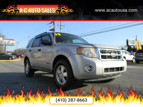 2008 Ford Escape for sale at A C Auto Sales in Elkton MD