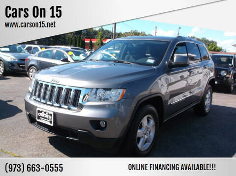 2012 Jeep Grand Cherokee for sale at Cars On 15 in Lake Hopatcong NJ