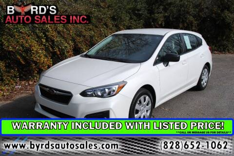 2018 Subaru Impreza for sale at Byrds Auto Sales in Marion NC