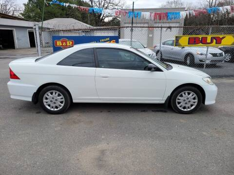 2005 Honda Civic for sale at B & R Auto Sales in N Little Rock AR