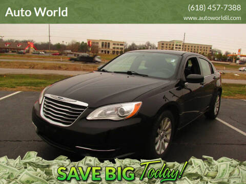 2013 Chrysler 200 for sale at Auto World in Carbondale IL