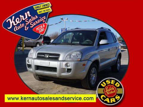 2007 Hyundai Tucson for sale at Kern Auto Sales & Service LLC in Chelsea MI