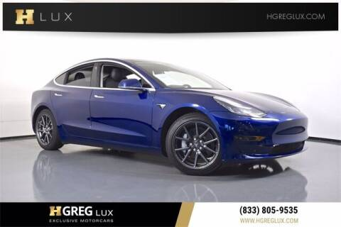 2018 Tesla Model 3 for sale at HGREG LUX EXCLUSIVE MOTORCARS in Pompano Beach FL