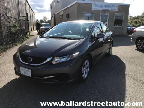 2013 Honda Civic for sale at Ballard Street Auto in Saugus MA