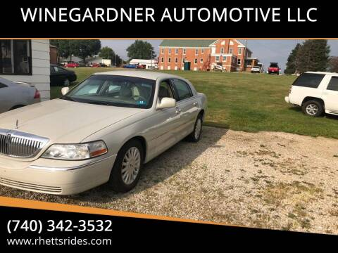 2005 Lincoln Town Car for sale at WINEGARDNER AUTOMOTIVE LLC in New Lexington OH