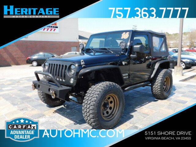 2016 Jeep Wrangler for sale at Heritage Motor Company in Virginia Beach VA