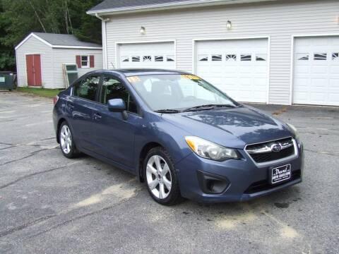 2013 Subaru Impreza for sale at DUVAL AUTO SALES in Turner ME