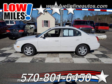 2002 Hyundai Elantra for sale at FUELIN FINE AUTO SALES INC in Saylorsburg PA