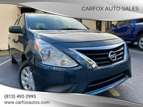 2015 Nissan Versa for sale at Carfox Auto Sales in Tampa FL