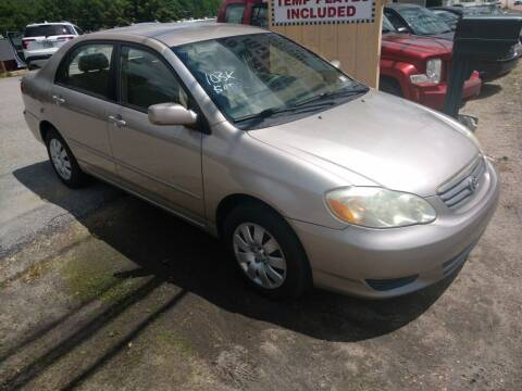 2003 Toyota Corolla for sale at Auto Brokers of Milford in Milford NH