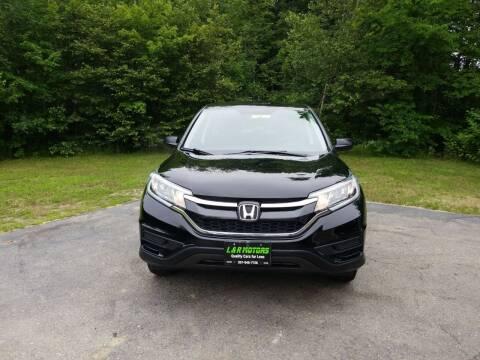 2016 Honda CR-V for sale at L & R Motors in Greene ME