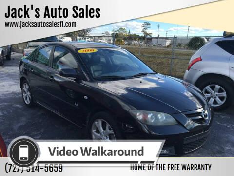 2008 Mazda MAZDA3 for sale at Jack's Auto Sales in Port Richey FL