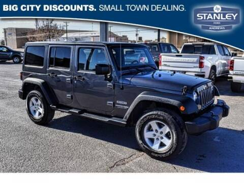 2018 Jeep Wrangler JK Unlimited for sale at STANLEY FORD ANDREWS in Andrews TX