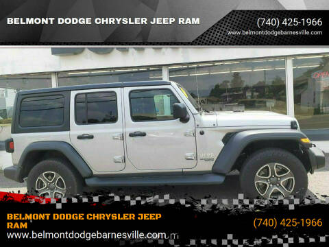 2018 Jeep Wrangler Unlimited for sale at BELMONT DODGE CHRYSLER JEEP RAM in Barnesville OH