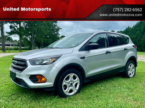 2018 Ford Escape for sale at United Motorsports in Virginia Beach VA