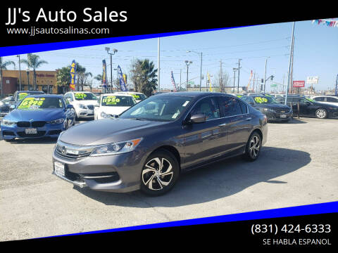 2016 Honda Accord for sale at JJ's Auto Sales in Salinas CA