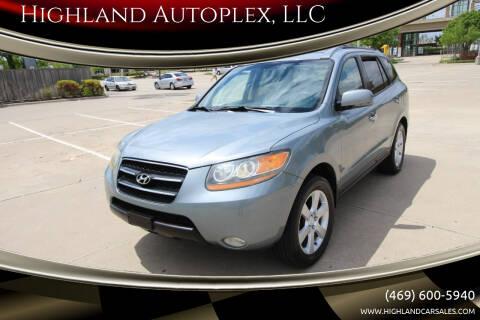 2008 Hyundai Santa Fe for sale at Highland Autoplex, LLC in Dallas TX