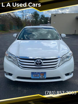 2011 Toyota Avalon for sale at L A Used Cars in Abington MA