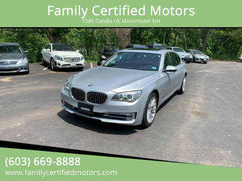 2013 BMW 7 Series for sale at Family Certified Motors in Manchester NH