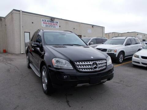 2008 Mercedes-Benz M-Class for sale at ACH AutoHaus in Dallas TX
