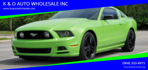 2014 Ford Mustang for sale at K & O AUTO WHOLESALE INC in Jacksonville FL