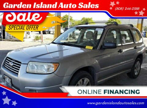 2008 Subaru Forester for sale at Garden Island Auto Sales in Lihue HI
