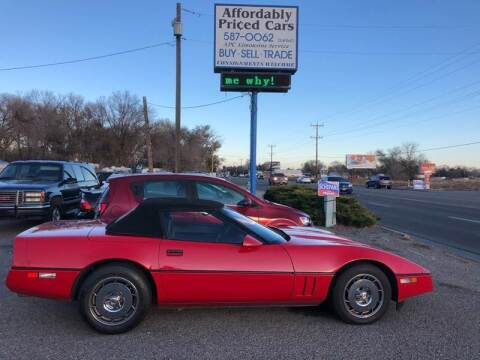 1986 Chevrolet Corvette for sale at AFFORDABLY PRICED CARS LLC in Mountain Home ID