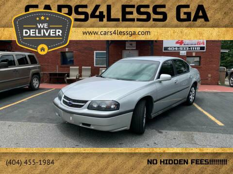 2003 Chevrolet Impala for sale at Cars4Less GA in Alpharetta GA