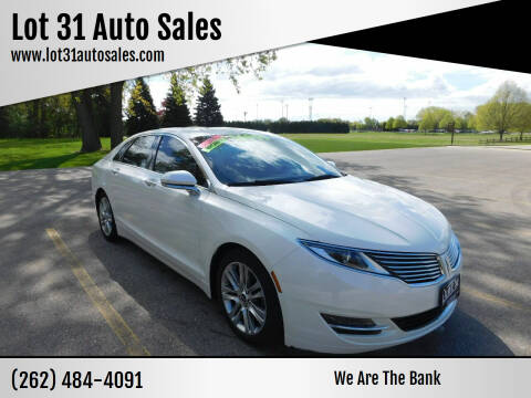 2014 Lincoln MKZ Hybrid for sale at Lot 31 Auto Sales in Kenosha WI